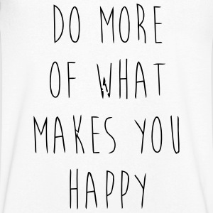 Do What Makes You Happy T-shirts - T-shirt med v-ringning herr