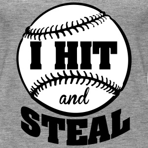 I hit and steal - Baseball Tops - Women's Premium Tank Top