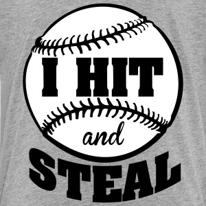 I hit and steal - Baseball Shirts - Kids' Premium T-Shirt