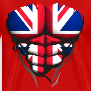 English flag torso body muscle abdos T-Shirts - Men's Premium T-Shirt