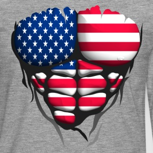 american usa English flag torso body muscle abdos Long sleeve shirts - Men's Premium Longsleeve Shirt