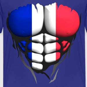 french flag torso body muscle abdos Shirts - Teenage Premium T-Shirt