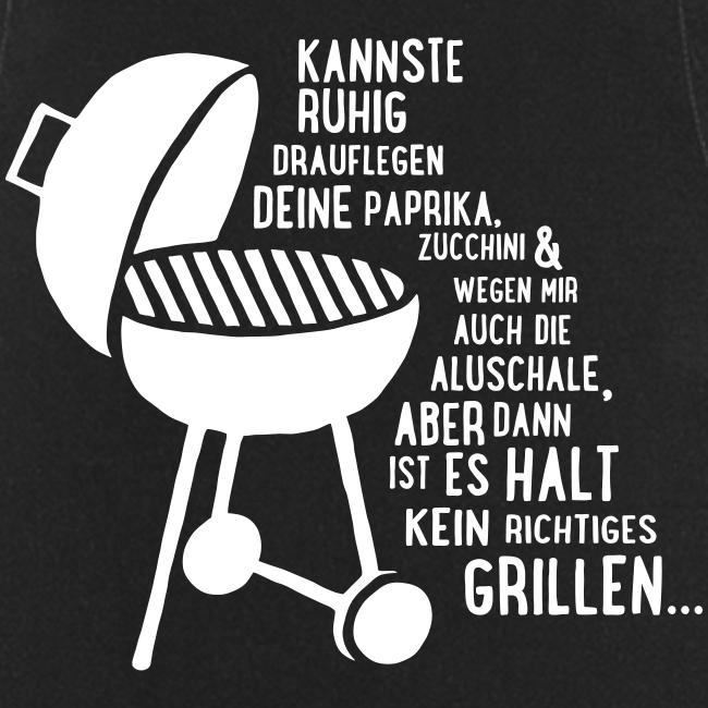 kein richtiges Grillen - Koch-/Grillschürze