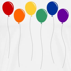 Regenbogen Luftballons an Leine