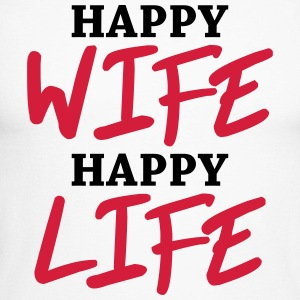 Happy wife, happy life Long sleeve shirts - Men's Long Sleeve Baseball T-Shirt