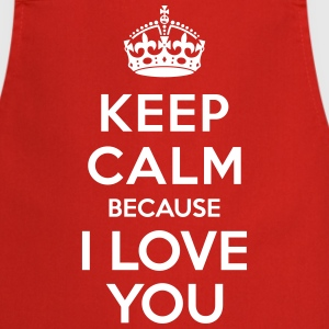 Keep calm I Love you Tabliers - Tablier de cuisine