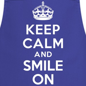 Keep calm and smile on Tabliers - Tablier de cuisine
