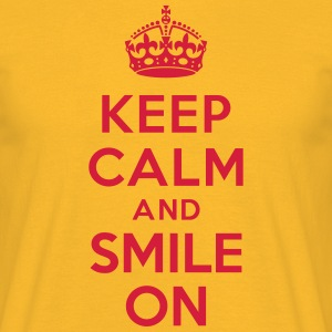 Keep calm and smile on Tee shirts - T-shirt Homme
