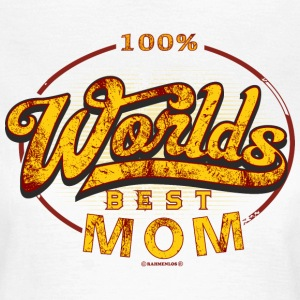 Worlds best Mom Muttertag original RAHMENLOS® - Frauen T-Shirt