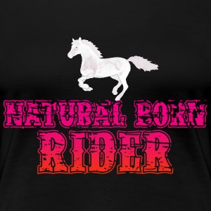 Natural Born Rider -Red Vintage T-Shirts - Frauen Premium T-Shirt