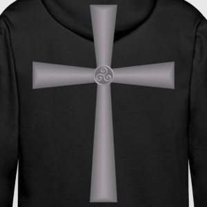 celtic cross Sweat-shirts - Sweat-shirt à capuche Premium pour hommes
