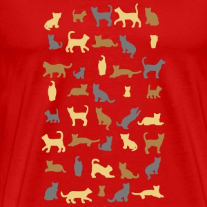 All cats vector T-shirts - Herre premium T-shirt
