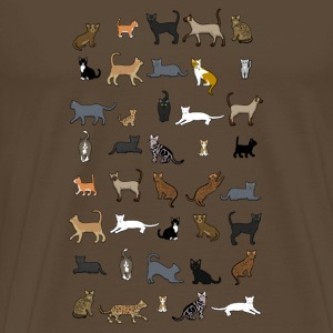 All cats T-shirts - Herre premium T-shirt