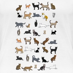 All cats T-shirts - Dame premium T-shirt