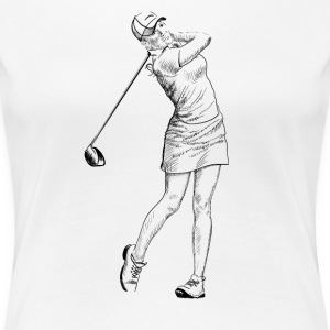 golf girl T-Shirts - Frauen Premium T-Shirt