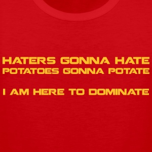 Haters Gonna Hate - men's tank2 - Men's Premium Tank Top