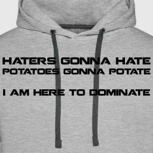 Haters Gonna Hate - men's hood1 - Men's Premium Hoodie