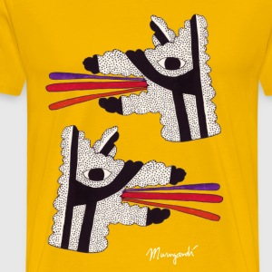 Dog Tongues, Men's shirt - Mannen Premium T-shirt