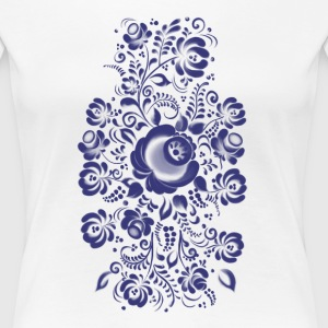 Ornament in Gzhel Style T-shirts - Dame premium T-shirt