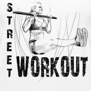 street workout girl Topy - Tank top damski Premium