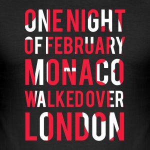 Monaco walked over London Tee shirts - Tee shirt près du corps Homme