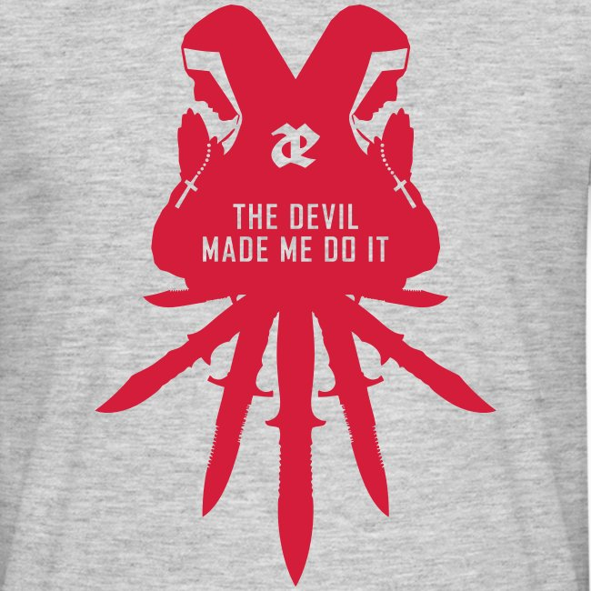 Leaether Strip - The Devil Made Me Do It : T-Shirt - grey
