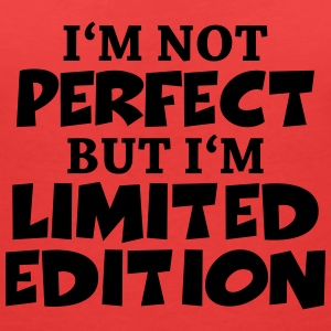 I'm not perfect, but I'm limited edition T-shirts - T-shirt med v-ringning dam