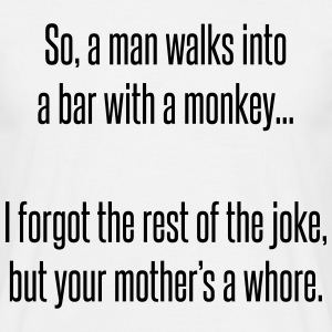 So a man walks into a bar T-shirts - Mannen T-shirt