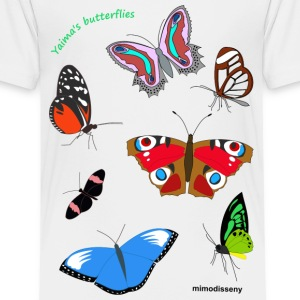 Yaima's butterflies Shirts - Teenage Premium T-Shirt