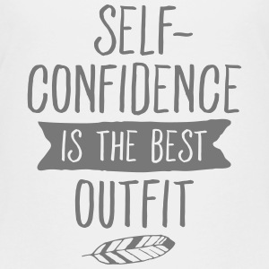 Self-Confidence Is The Best Outfit Shirts - Teenage Premium T-Shirt