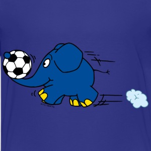 Kinder T-Shirt - Elefant spielt Fussball - Teenager Premium T-Shirt