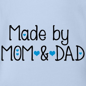 Made by mom and dad Baby Bodysuit - Organic Short-sleeved Baby Bodysuit
