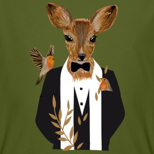 A deer in a black tuxedo T-Shirts - Men's Organic T-shirt