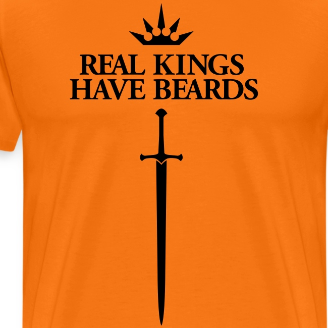 Real Kings Have Beards  - Men's Shirt (black print)