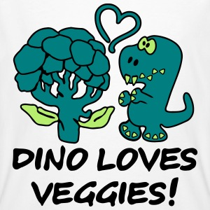 Dino Loves Veggies Broccoli T-shirts - Organic mænd