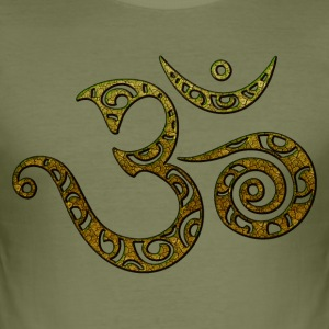 OM, AUM, BUDDHISM, SPIRITUALITY, MANTRA, YOGA, ZEN T-shirts - slim fit T-shirt