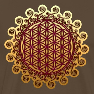 FLOWER OF LIFE, SPIRITUAL SYMBOL, SACRED GEOMETRY  - Men's Premium T-Shirt