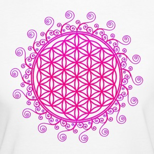 FLOWER OF LIFE, SPIRITUAL, SACRED GEOMETRY, YOGA T - Women's Organic T-shirt