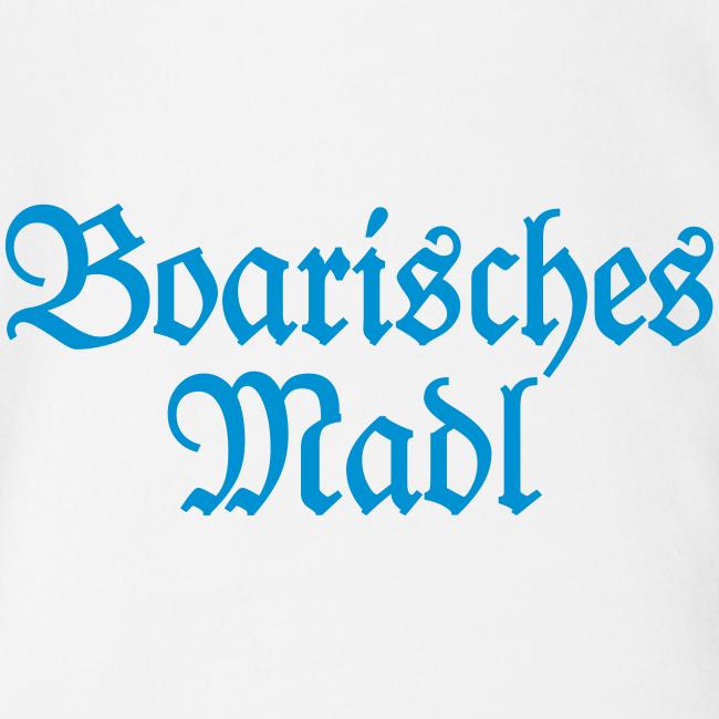 Boarisches Madl Babybody (Weiß/Blau)