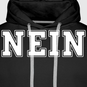 NEIN college Sweat-shirts - Sweat-shirt à capuche Premium pour hommes