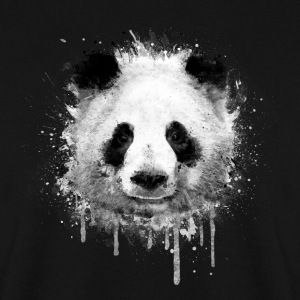 Cooles Kunst Panda Portrait (watercolor design)  Pullover & Hoodies - Männer Pullover
