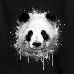 Cool Artistic Panda Portrait (akvarel design) T-shirts - Teenager-T-shirt