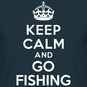 Keep calm and go fishing Tee shirts - T-shirt Homme