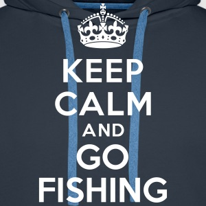 Keep calm and go fishing Sweat-shirts - Sweat-shirt à capuche Premium pour hommes