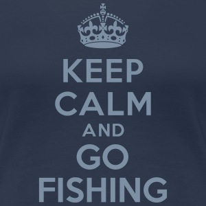 Keep calm and go fishing Tee shirts - T-shirt Premium Femme