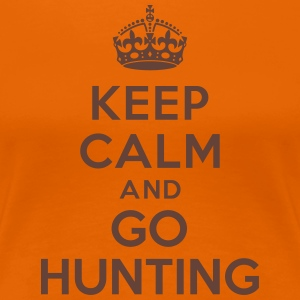 Keep calm and go hunting Tee shirts - T-shirt Premium Femme