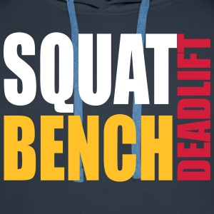 Squat Bench Deadlift - men's hood - Men's Premium Hoodie