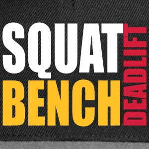 Squat Bench Deadlift - snapback cap - Snapback Cap