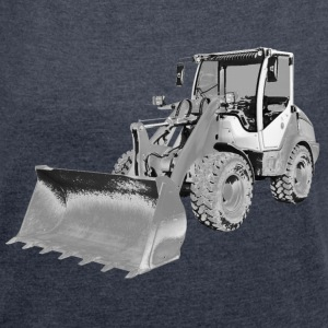 wheel loader T-Shirts - Women's T-shirt with rolled up sleeves