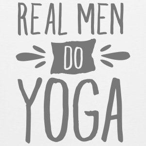 Real Men Do Yoga Tank topy - Tank top męski Premium